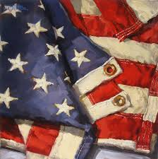 oil 12x12 sold magnify this is a commissioned piece and the fifth and largest american flag painting i have done i love my country and i love our flag