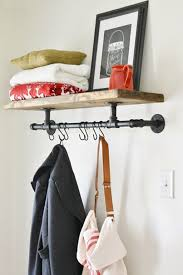 Storage & Organization: Industrial Coat Rack Ideas - Industrial Pipe