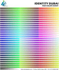 Identity Dubai Web Design Color Chart