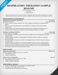 Sample resume respiratory therapist sample resume for Respiratory therapist  resume examples .