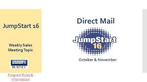 Sales Meeting Topic Jumpstart 16 Weekly Sales Meeting Topic October November