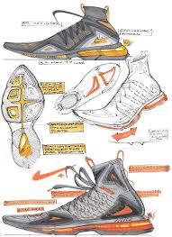 Nike Shoe Design Process Sneaker Sketches And Renderings On Behance Sneakers Sketch