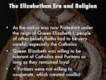 Elizabethan Period Religious Beliefs