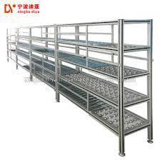 high quality plastic roller track fluent carton flow rack shelves