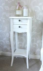 Image of: Narrow Bedside Table Cream