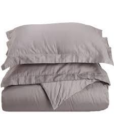 impressions grey twin xl cotton comforter set 400 thread count photo 1