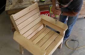 assembling cedar patio chair armrests wood putty