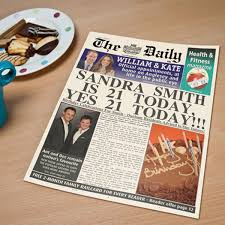 Spoof Newspaper Template Free Personalised Print Spoof Newspaper Its Your Birthday