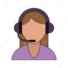 Operador De Call Center Avatar Cliente Call Center Icono Imagen Ilustración  Vectorial De Diseño Ilustraciones Vectoriales, Clip Art Vectorizado Libre  De Derechos. Image 85853785.