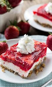 Strawberry Pretzel Salad Spicy Southern Kitchen