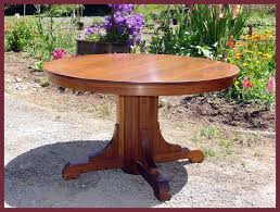 original vintage gustav stickley pedestal oak dining table