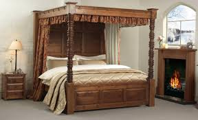Bedding Four Poster Frame Canopy Beds King Size Andreas Image