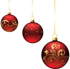 Christmas Red Balls Ornaments PNG Picture