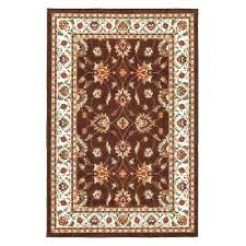 rubber backed throw rugs prestige collection traditional all over pattern design brown 3 ft x 5