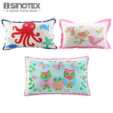 Small Picture Cushion 30cm X 50cm Cartoon Embroidered Applique Decorative Throw