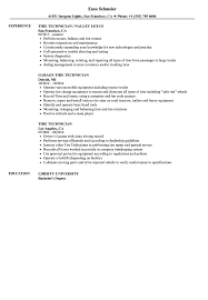 Download Tire Technician Resume Sample as Image file