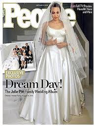 embroidered wedding dress. Angelina Jolies embroidered wedding dress makes headlines