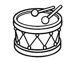 Disegno Di Tamburo Giocattolo Da Colorare Acolorecom