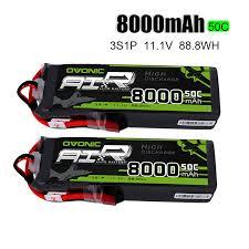 <b>2 Packs OVONIC</b> Lipo Batteries <b>8000mAh</b> 50C 3S 11.1V Deans ...