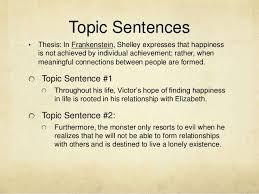 frankenstein essay writing tips topic sentences