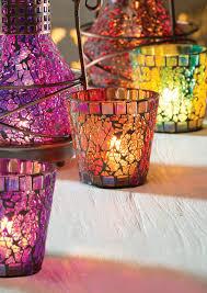 glass mosaic votive holder