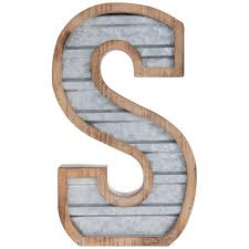 galvanized metal letter wall decor s