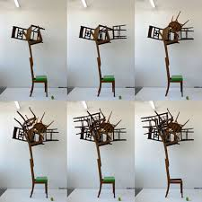 amazing furniture designs. u0027in the woodsu0027 balanced stacks of found chairs amazing furniture designs
