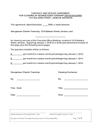Commercial Cleaning Service Agreement Template Luxury Ads Free