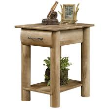 sauder boone mountain craftsman oak finish 1 drawer side table