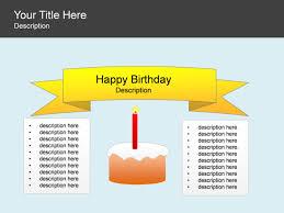 Powerpoint Slide Block List Diagram Birthday Candle