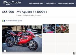 a lewis hamilton mv agusta f4 has been on autotrader for a week motofire