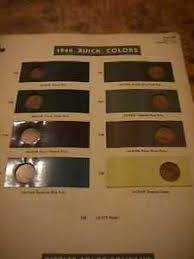 Details About Scarce 1940 Buick Color Chart With Sample Color Chips