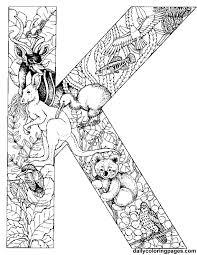 k animal alphabet letters to print