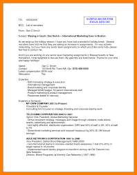 How To Write An Email With Resume Recruiter Sample Mail Formal