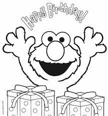 Elmo Birthday Coloring Pages Sesame Street Birthday In 2019 Elmo