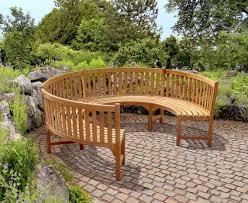 henley teak 3 4 circular curved garden