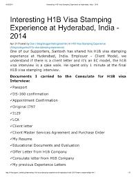 4/30/2014 Interesting H1B Visa Stamping Experience at Hyderabad, ...