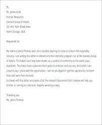 Short Cover Letter Hospitality Internship Cover Letter Short