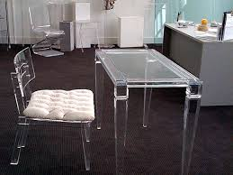 lucite desk and chairs