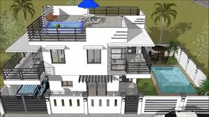 4 Storey House Design With Rooftop Modern 2 Storey House With Roofdeck Swimming Pool