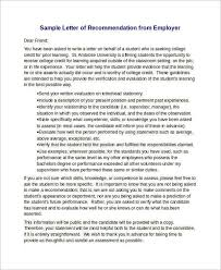 Examples Of Letter Recommendation My Physician Assistant Applicant