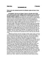 the handmaid s tale what are the main methods of control in the page 1 zoom in