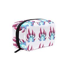 amazon makeup bag for portable fantasy cartoon mushroom traveling square cosmetic pouch kits toiletry bag beauty