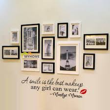 a simile is the best makeup any girl can wear marilyn monroe lettering wall stickers quotes art decorative wall decals for home girls room wall stickers  on lettering wall art quotes with a simile is the best makeup any girl can wear marilyn monroe