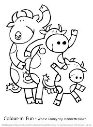 Vache 103 Animaux Coloriages Imprimer