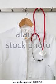 Lab Coat Rack Amazing Lab Coat And Stethoscope Hanging On A Coat Rack Stock Photo