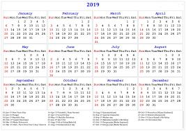 Calendar Year 2019 Printable Calendar For Next Year 2019 Swifte Us