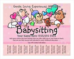 Free Printable Daycare Flyers 17 Baby Sitting Flyer Designs Word Psd Ai Eps Vector