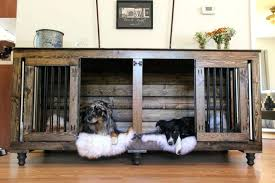 large wood dog crate furniture the best indestructible escape