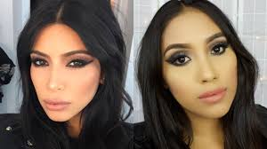 kim kardashian rocker chic makeup tutorial black smokey cat eye you